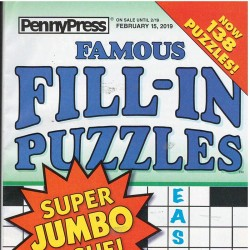 Famous Fill In Puzzles...